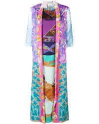 Rianna + Nina - Shell (white) Print Kimono Style Kaftan - Lyst