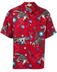 Gucci - Printed Pyjama Shirt - Lyst