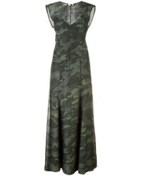 Osklen - Sleeveless Camouflage Dress - Lyst