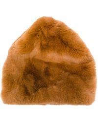 Marni - Textured Fur Hat - Lyst