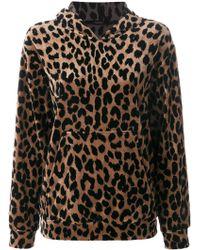 ODEEH - Leopard Print Hoodie - Lyst