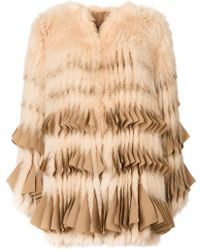 Givenchy - Fringed Fur Coat - Lyst
