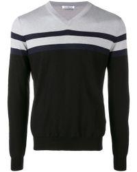 Dirk Bikkembergs - Panelled Stripe Sweater - Lyst