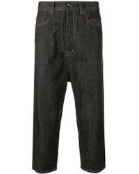 Rick Owens Drkshdw - Cropped Raw Denim Jeans - Lyst