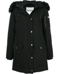 KENZO - Oversized Parka Coat - Lyst