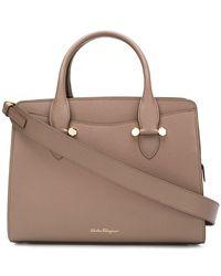 Ferragamo - Double Handle Tote Bag - Lyst