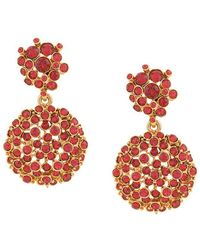 Oscar de la Renta - Jewelled Flower Drop Earrings - Lyst