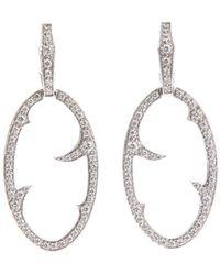 Stephen Webster - Diamond 'oval Thorn' Earrings - Lyst