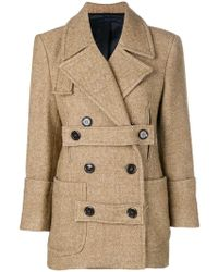 Eudon Choi - Cropped Double-breasted Coat - Lyst