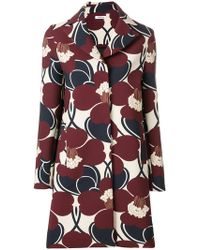P.A.R.O.S.H. | Floral Single Breasted Coat | Lyst