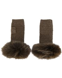 Yves Salomon - Pom Pom Fingerless Gloves - Lyst
