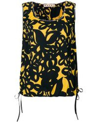 Marni - Floral Print Tank Top - Lyst