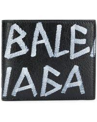 Balenciaga - Бумажник С Принтом Граффити - Lyst