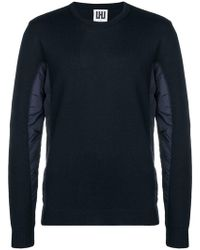 Les Hommes - Contrasting Panel Sweater - Lyst