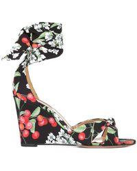 Sandales Compensées De Fleurs De Cerisier Aquazzura p8Xcx