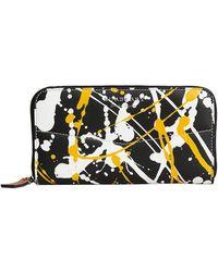 Burberry - Splash Print Zip Around Wallet - Lyst