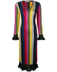 Marco De Vincenzo - Striped Midi Dress - Lyst