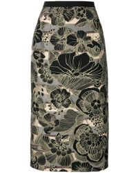 Antonio Marras - Printed Pencil Skirt - Lyst
