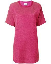 Laneus - Round Neck T-shirt - Lyst