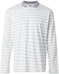 Eleventy - Collar Striped Jumper - Lyst