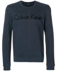 CALVIN KLEIN 205W39NYC - Felpa Classica Con Logo - Lyst