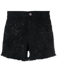 Amen - Distressed Shorts - Lyst