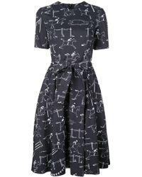 Carolina Herrera - Kleid mit Jockey-Print - Lyst