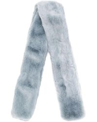The Gigi - Lucia Faux Fur Scarf - Lyst