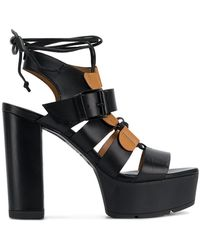 Vic Matié - Open Toe Platform Sandals - Lyst