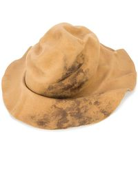 Horisaki Design & Handel - Wrinkled Burned Effect Hat - Lyst