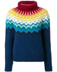 Anya Hindmarch - Knit Patterned Jumper - Lyst