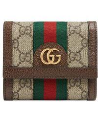 Gucci - Beige Ophidia GG Wallet - Lyst