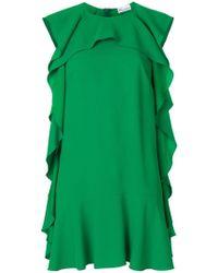 RED Valentino - Ruffle Shift Dress - Lyst