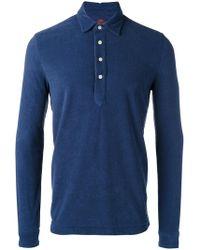 Mp Massimo Piombo - Towell Long Sleeve Polo Shirt - Lyst