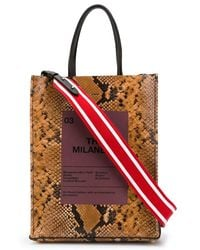 N°21 - Snake-print Shopper Bag - Lyst