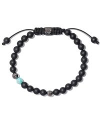 Shamballa Jewels - 18kt White Gold & Black Diamond Beaded Non-braided Bracelet - Lyst
