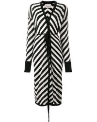 Laneus - Long Striped Cardigan - Lyst