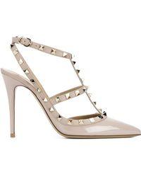 Valentino - Garavani Rockstud Ankle Strap Court Shoes - Lyst