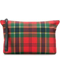 Alexander McQueen - Plaid Canvas Pouch - Lyst