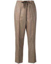 Fendi - Drawstring Ff Logo Trousers - Lyst