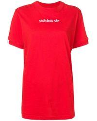 adidas - Contrast Logo T-shirt - Lyst