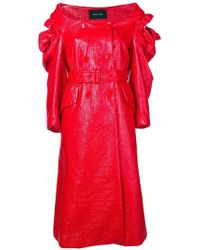 Simone Rocha - Varnished Double-breasted Coat - Lyst