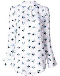 Equipment | Star Print Shirt | Lyst