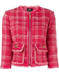 Elisabetta Franchi - Checked Tweed Jacket - Lyst