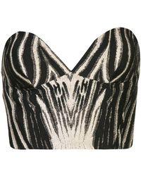 Christian Siriano - Kleid mit Zebra-Print - Lyst