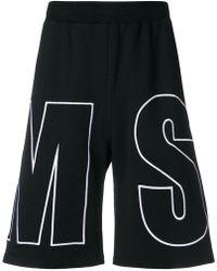 MSGM - Branded Shorts - Lyst