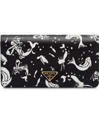 Prada - Saffiano Leather Mermaid Print Mini-bag - Lyst