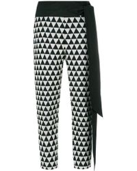 Chalayan - Triangle Print Cropped Trousers - Lyst
