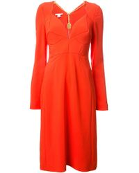Antonio Berardi - Chain Detail Fitted Dress - Lyst