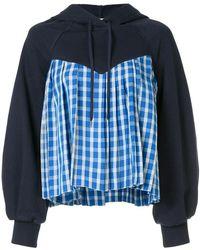 Discounts Online Cheap Sale Shopping Online Sea Woman Fil Coupé-paneled Cotton-terry Hooded Sweatshirt Black Size L Sea New York YVtYF